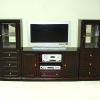 Bespaq Dollhouse Six Piece Mahogany Entertainment Center