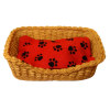 Rectangle Dog Cat Pet Sleeping Basket Bed