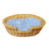 Small Oval Wicker Dog Cat Pet Sleeping Basket Bed