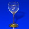 Hand Blown Gold Stem Wine Glass