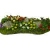 Handcrafted Large Pansy Flower Garden Landscape