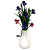 Handcrafted Iris Flower Arrangement