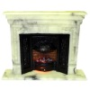 Illuminated Faux Marble Fireplace