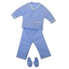 Real Fabric Blue Unisex Lounging Pajamas