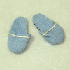 Real Fabric Light Blue Unisex Slippers