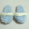 Wearable Unisex Blue Terry Slippers