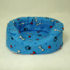 Soft Blue Cushioned Dog Sleeper Bed