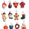 Set of One Dozen Country Christmas Ornaments