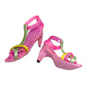 Handcrafted Multicolor Ankle Strap Party Heels