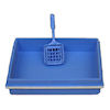 Blue Kitty Litter Box and Scoop Set
