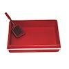 Red Kitty Litter Box and Scoop Set