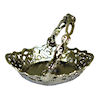 Silver Metal Reticulated Basket or Fruit Bowl