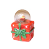 Christmas Santa Claus Water Globe on Gift Box Base