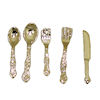 Five Piece Metal Flatware Table Setting