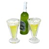 Tall Beer Bottle and Filled Pilsner Glass Set