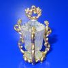 Ornate Faux Crystal Victorian Pickle Castor in Golden Frame