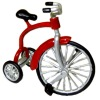 Red Tricycle with Working Wheels