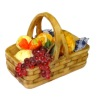 Filled Bread Basket with Fruit