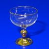 Gold Base Blown Margarita Glass