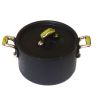 Medium Black Pot With Removable Lid