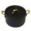 Large Black Pot With Removable Lid