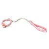 Pink Leather Dog Pet Leash and Collar
