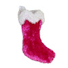Hand Crafted Purplish Pink Velvet Christmas Stocking