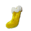 Hand Crafted Yellow Velvet Christmas Stocking