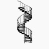 Ornate Metal Spiral Staircase Kit