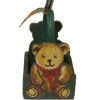 Handcrafted Wood Green Teddy Bear Bear Basket