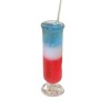 Handcrafted Tall 4th of July Red White and Blue Cocktail