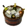 Barrel Tub Filled With Ice and Wine Bottles