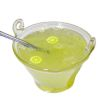 Handcrafted Filled Glass Punch Bowl of Iced Lemonade