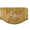 Handcrafted Wood Wine Bar Sign
