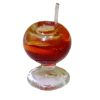 Tequila Sunrise Cocktail in Glass with Stirrer