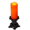 Lighting Flickering Spooky Halloween Candle on Short Black Base