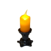 Flickering Halloween Candle on Small Black Base - Battery Op