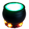 Artisan Cauldron with Lighting Bubbles and Flickering Flames