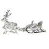 Peter Acquisto Sterling Silver Miniature Reindeer & Swan Sleigh