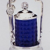 Limited Edition Numbered Sterling Silver Cobalt Pickle Castor