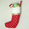 All Through The House Filled Red Christmas Stocking