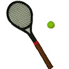 All Through The House Handcrafted Tennis Racket and Ball