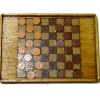 All Through The House Inlaid Wood Checkers Game Board