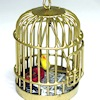 All Through the House Handcrafted Bird in Bird Cage