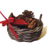 All Through the House Handcrafted Filled Pine Cone Basket