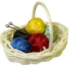 All Through the House Filled Knitting Basket