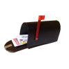 All Through the House Handcrafted Rural Black Mailbox with Mail