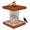 Alice Zinn Handcrafted Filled Wood Bird Feeder with Bird