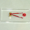 Alice Zinn Handcrafted Red Chopsticks with Stand
