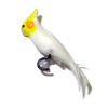 Alice Zinn Handcrafted Lutino Cockatiel Pet Bird with Perch